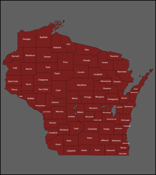 2nd Judicial Map of Wisconsin